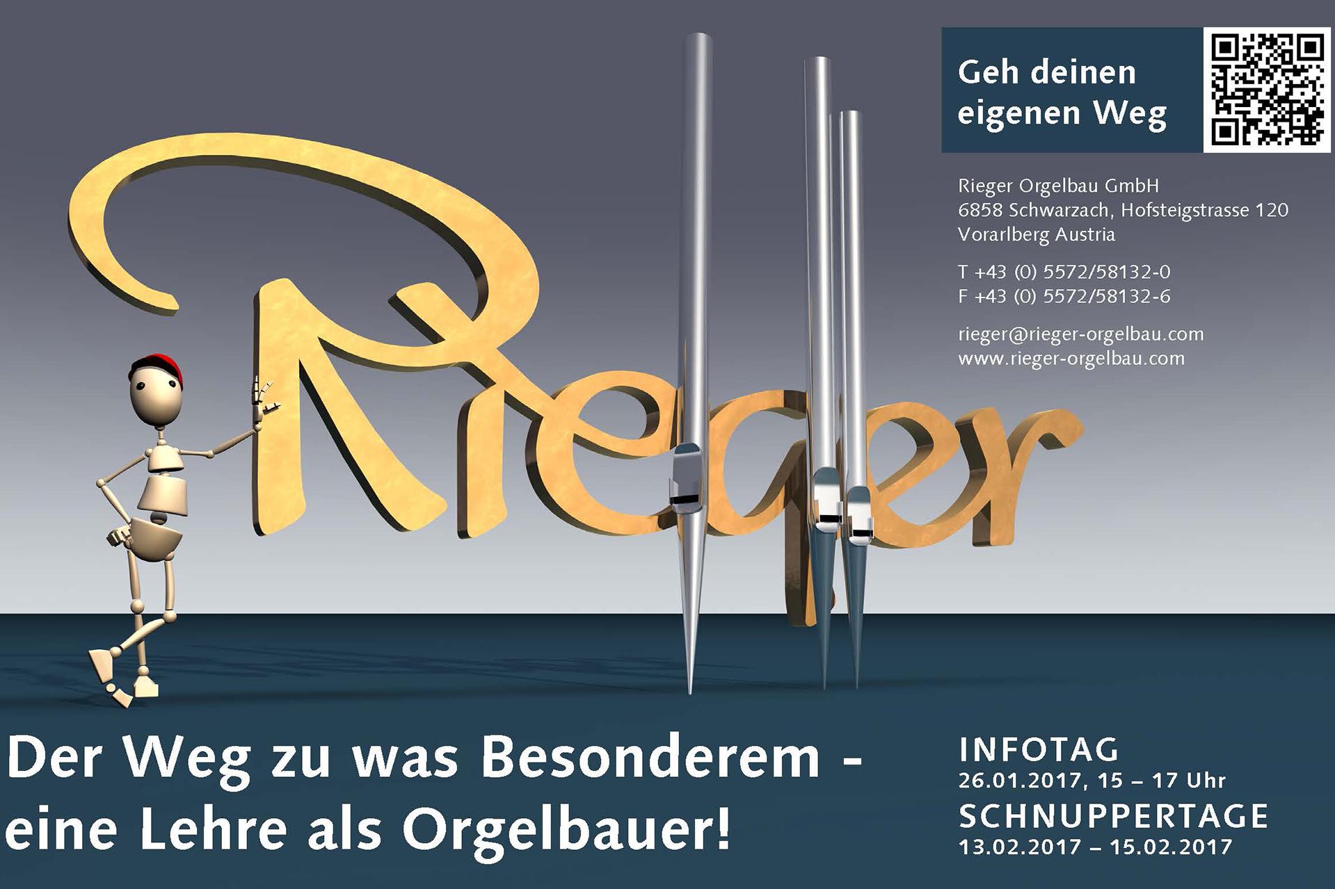 Rieger-Schnuppertag NEWS 2017